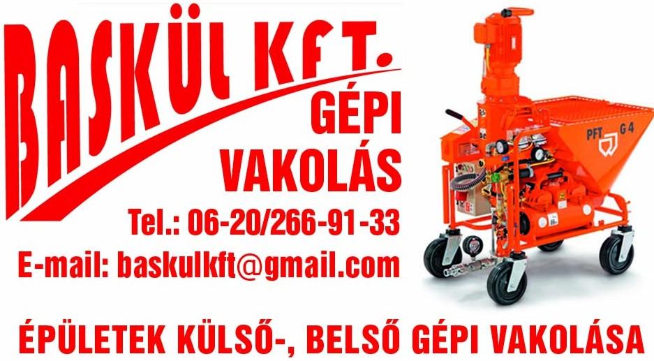 Gépi Vakolás Budapest, Pest megye - BASKÜL Kft.